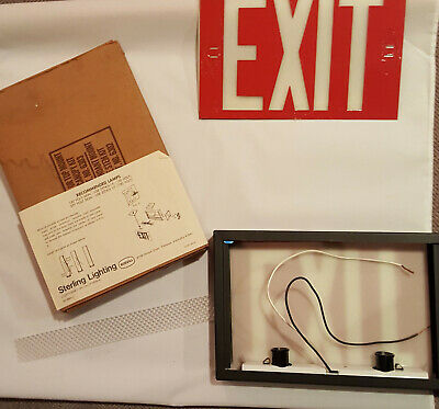 Never Used Lighted Red Exit Sign Double Sided By Sterling Lighting