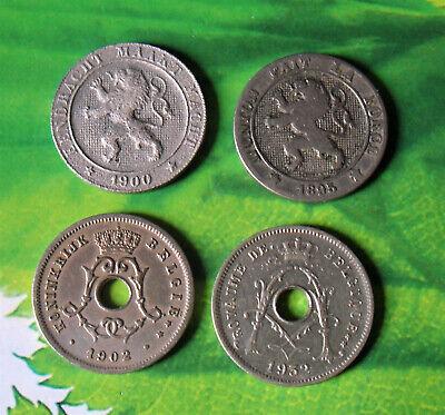 Belgie lot 4 munten van 5 centimes - centiemen