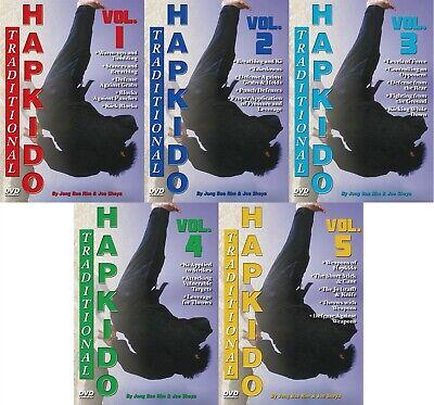 5 DVD Set Traditional Hapkido Groundfighting Weapons DVD Joe Sheya Jong Bae Rim