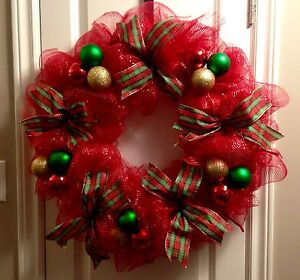 Deco Mesh Christmas Wreaths (starting at $35)