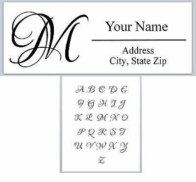 Personalized Address Labels Monogram Buy 3 get 1 free (ac 613) - Monogram Labels