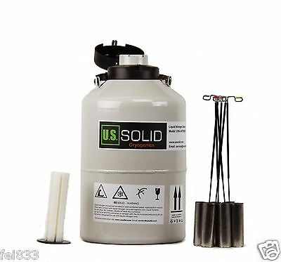 6 L Liquid Nitrogen Container Cryogenic Tank Ln2 Dewar 6 Canisters U.s.solid