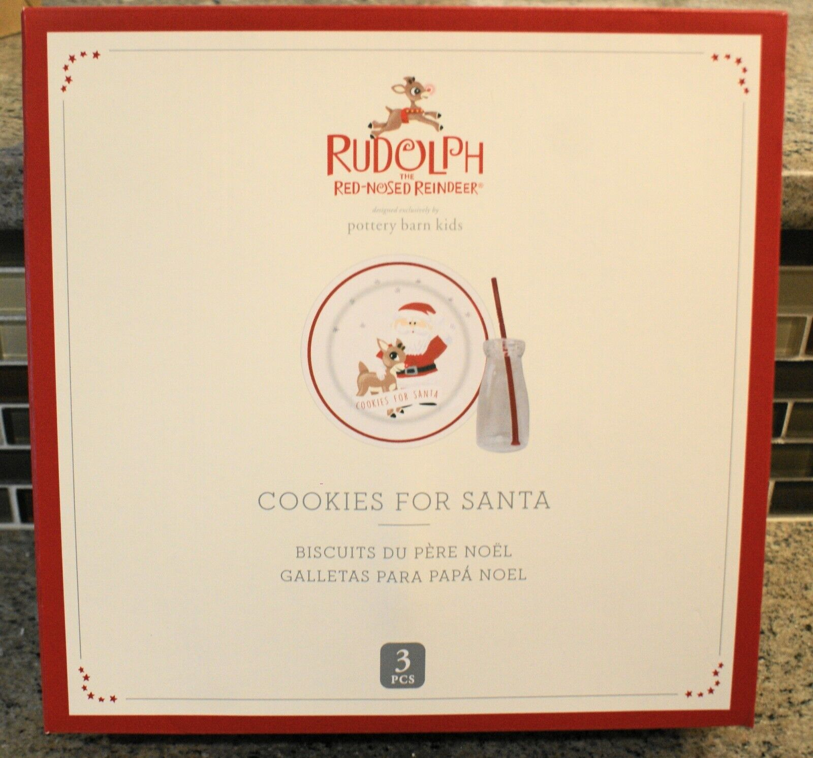 New Pottery Barn Kids Christmas RUDOLPH Red Nosed Reindeer C