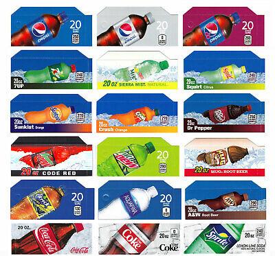 18-20 Oz Flavor Stripscokepepsi Dixie Narcovendo Soda Machines