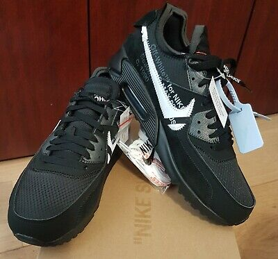 Nike off white air max 90 Black 9.5us THE TEN 10