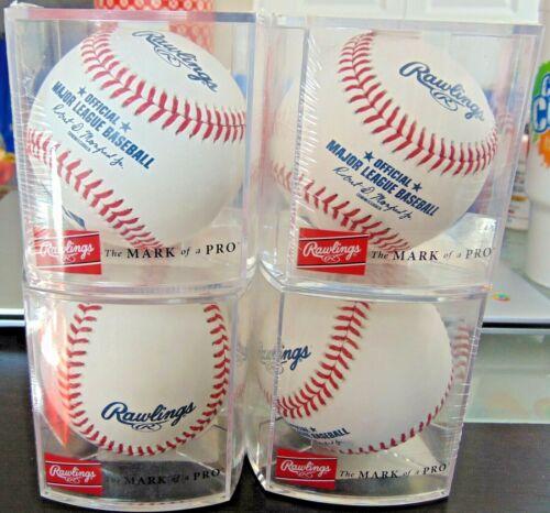 4 Rawlings MLB Official Major League Baseballs Manfred - NEW - SEALED w/Cube