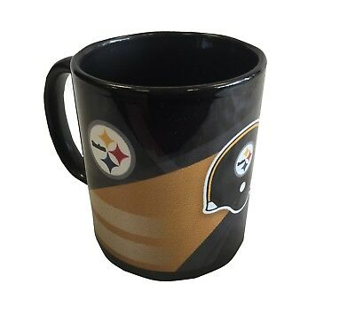 NFL Pittsburgh Steelers Black & Gold Helmet Logo Coffee Cup MUG *BRAND -