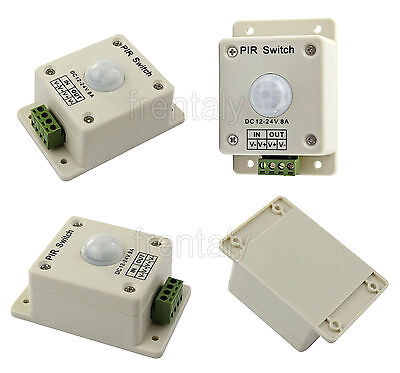 Hot DC 12V-24V 4A Automatic Infrared PIR Motion Sensor Switch For lighting light