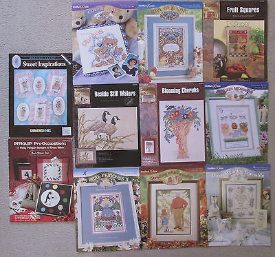 Lot of 11 Mixed Cross Stitch Patterns Includes 9 StitchWorld  Plus Two More