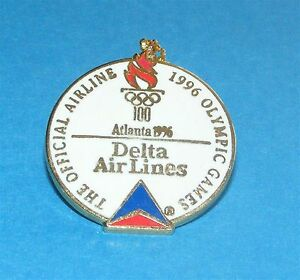 ATLANTA-1996-Olympic-Collectible-Sponsor-Pin-Delta-Airlines-Official ...