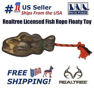 Rope Dog Toy Camo (Realtree Fish Rope Floaty Toy Camouflage Hunting Dog Apparel Toys &)