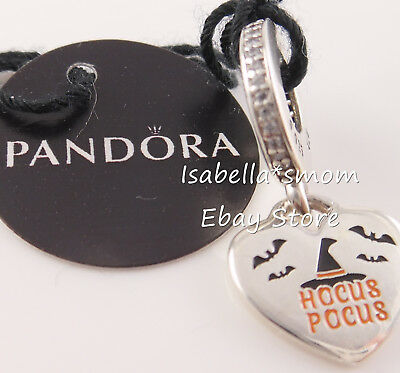 HOCUS POCUS Authentic PANDORA Enamel HALLOWEEN Witch Dangle Charm ENG792017CZ_10