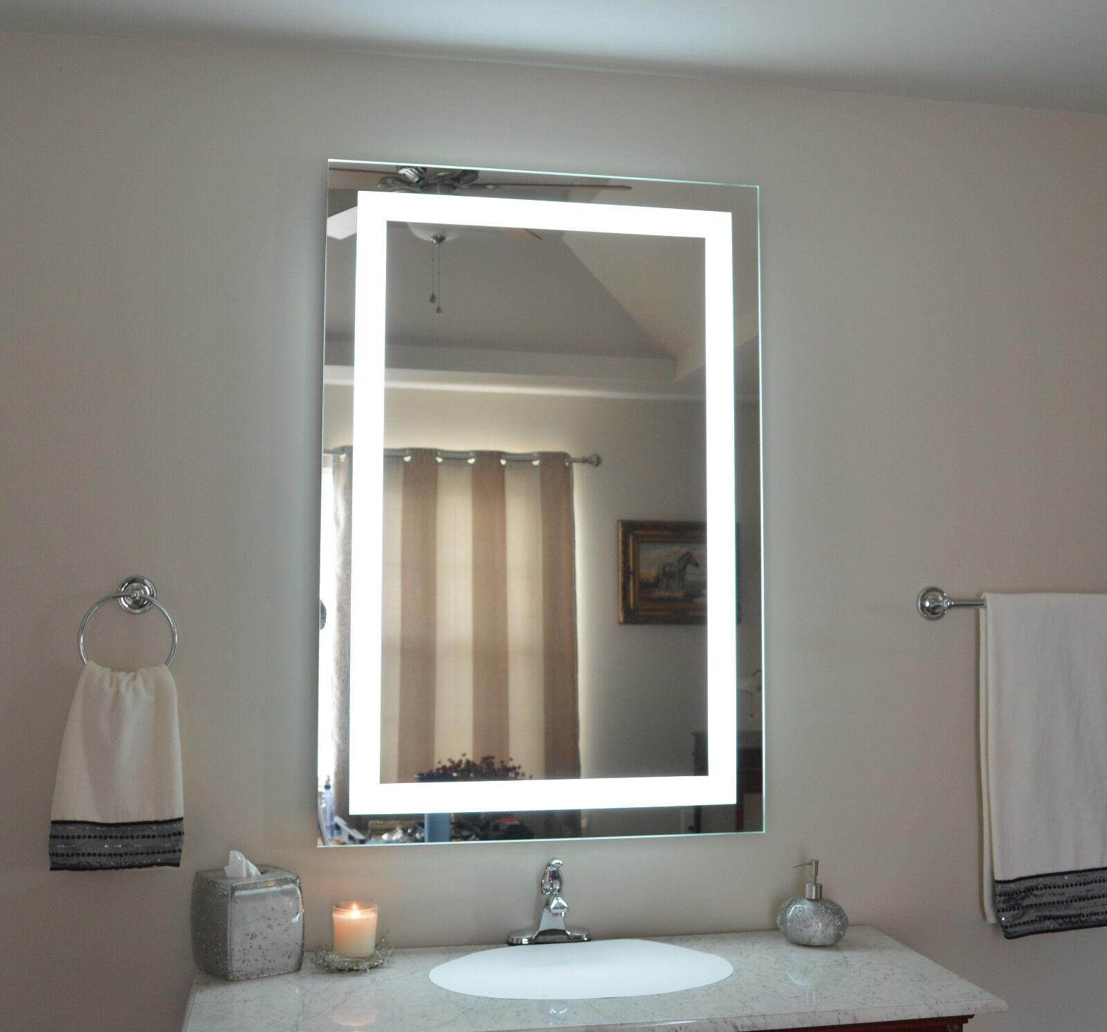 "MAM83248 32"" w x 48"" t lighted vanity mirror - wall ..."