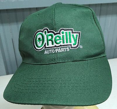 O Reilly Auto Parts Green Adjustable Baseball Cap Hat
