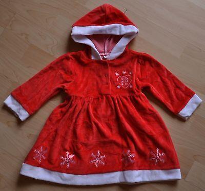 Zuckersüßes Miss Santa Kleid Weihnachtskleid Weihnachten Gr 80 rot NEU England Santa Baby Kleid