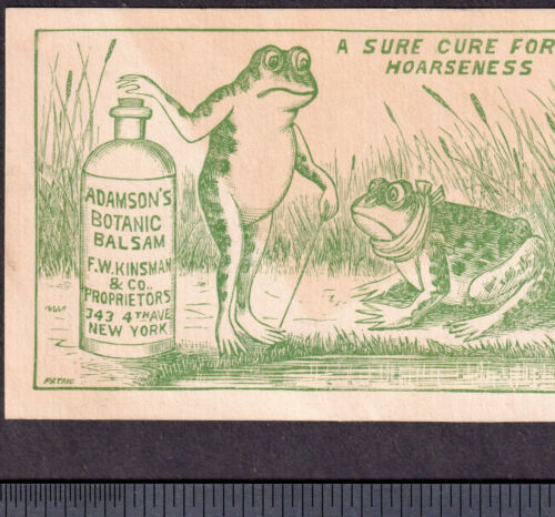 Frog Throat Remedy 1880