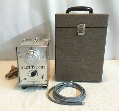Wright Light 977 Dual Orifice Halogen Fiber Optic Light Source With Cable Box