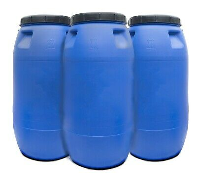 Plastic Water Barrel/Drum Approx 220L for shipping, water storage, gardening