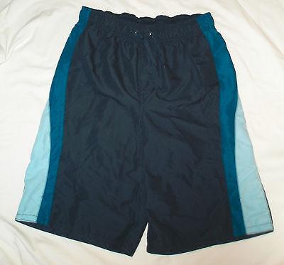 New Boys Size XL / 16 - 18 Blue Swimming Swim Trunks Shorts Swim Suit