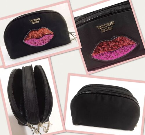 Victoria's Secret Love Patch On The Go Double Zip Cosmetic