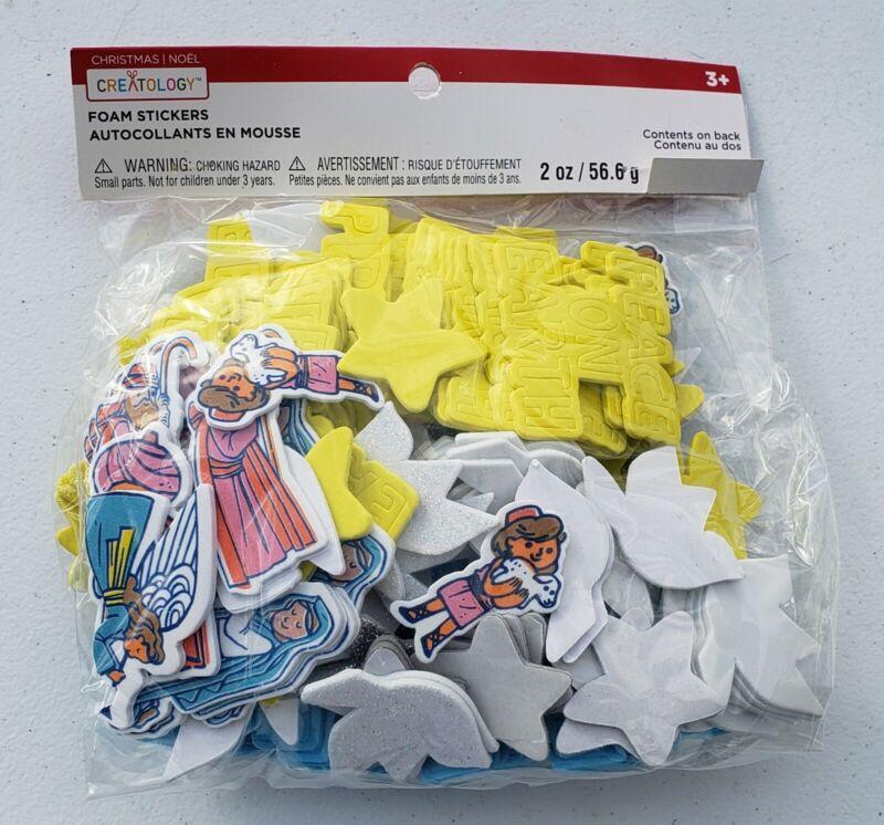 Creatology Christmas Foam Stickers Nativity, Peace On Earth, Dove, Stars 2oz pk