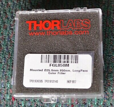 Thorlabs Fgl850m Mounted Longpass Color Filter 850 Mm Cuton Wavelength 25 Mm.