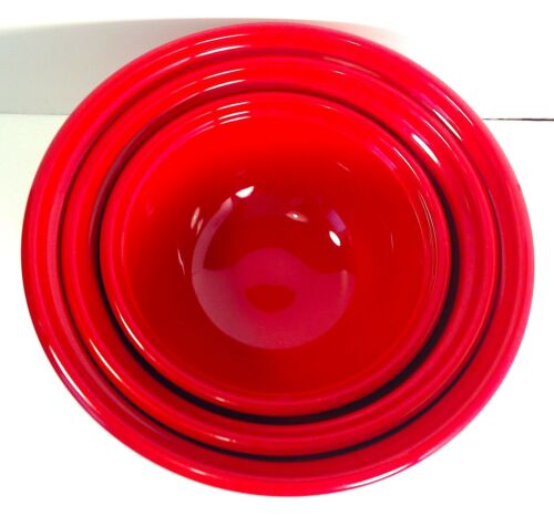 EMILE HENRY France NESTING MIXING BOWL SET of 3 - Red