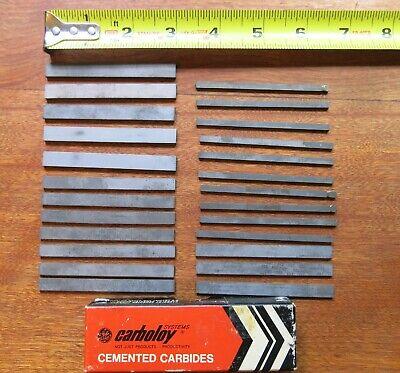 Lot 25 - Carboloy 883 Carbide 3 Long Bar Bits Assorted Width Rectangular Strips