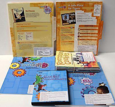 Gear Up,Ell Fluency Kit: Grade 1-2 Guided Reading,ELL Lesson Plans,DVD,Books (8) Guided Reading Lesson Plans
