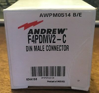 Lot Of 25 Commscope Andrew F4pdmv2-c Din Male Connector For 12 Superflex New