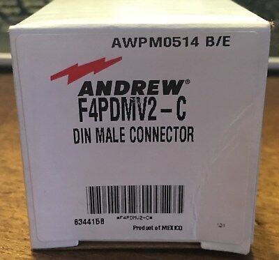 Commscope Andrew F4pdmv2-c Din Male Connector For 12 Superflex New