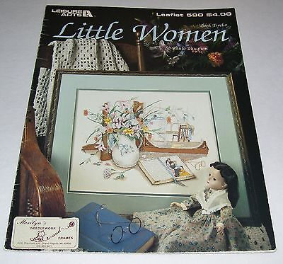 La Cross Stitch Pattern Leaflet 590 Paula Vaughan Little Women 1988