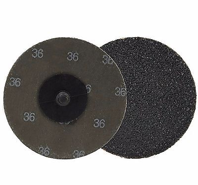Neiko 11181a -10 Piece 3 36 Grit Silicon Carbide Sanding Discs Roll-on And Lock