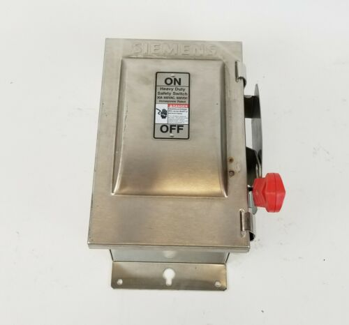 Siemens HNF261S 30A 600VAC 600VDC Non-Fusable Heavy Duty Safety Switch