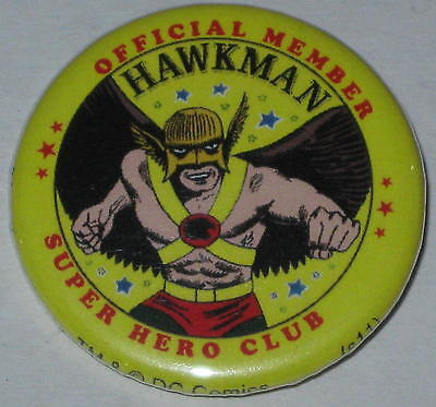 "Retro ""Official Member Hawkman Super Hero Club""  Pin Licensed by DC Comics 1.25"""