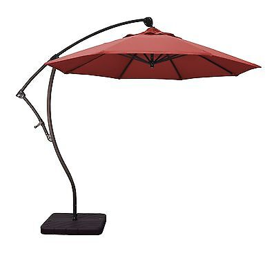 Phat Tommy 9 Ft Cantilever Offset Aluminum Market Patio Umbrella with Tilt -