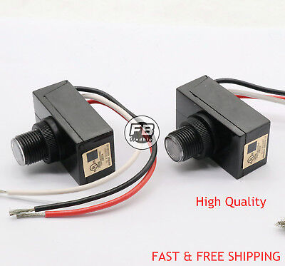 Outdoor Electric Resistor Photocell Light Control Sensor Switch Jl103a 2pcs