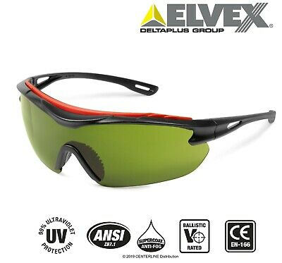 Elvex Browspecs Safety Glasses Welding Shade Green 3 Lensblack Frame Anit-fog