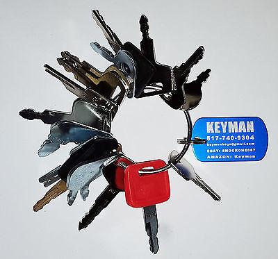 16 Keys Heavy Equipment / Construction Ignition Key Set