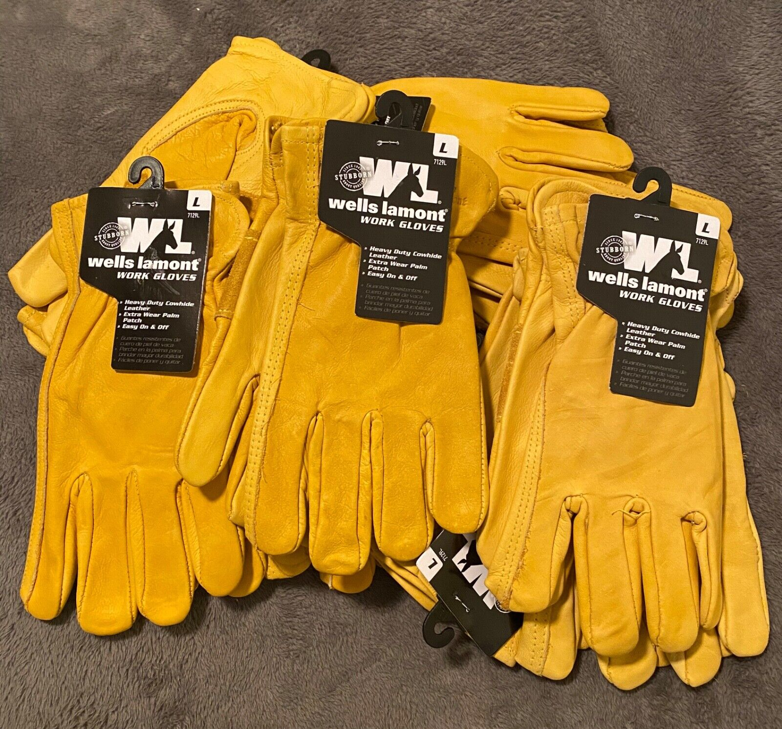 Wells Lamont Premium Cowhide Leather Heavy Duty Work Gloves