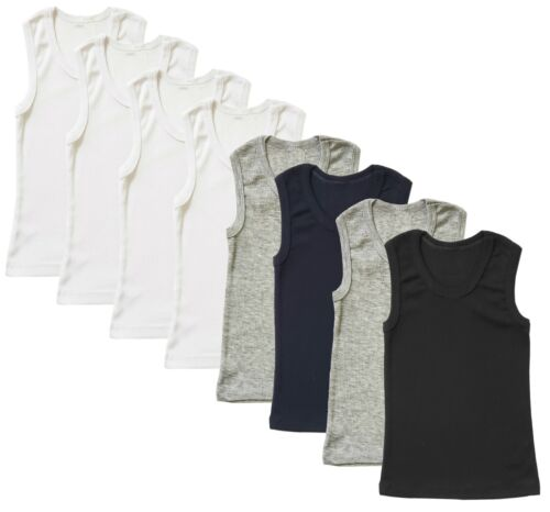 Tank Top Undershirt 4-Pack Ribbed Vest Muscle sleeveless Boys Kids Toddler Baby