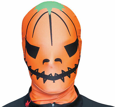 Real Morphsuit Pumpkin Face Mask M-Suit Adult Orange Halloween Costume Accessory (Real Halloween Costume)