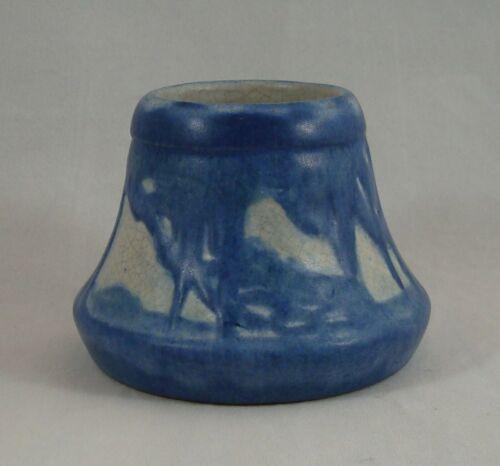 Newcomb College Pottery 1931 Spanish Moss Oak Trees Cabinet Vase Sadie Irvine