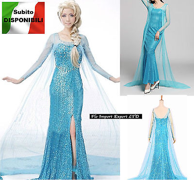 frozen Karnevalkleid Frau elsa Dress Up Frau elsa Cosplay Kostüm 8899002H