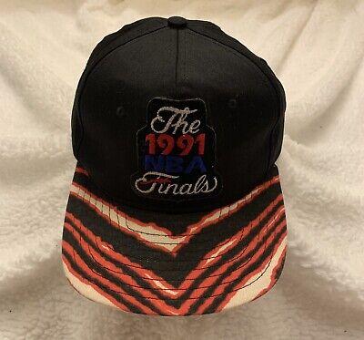 Vintage Chicago Bulls Hat Snapback Cap 1991 Finals Champions AJD