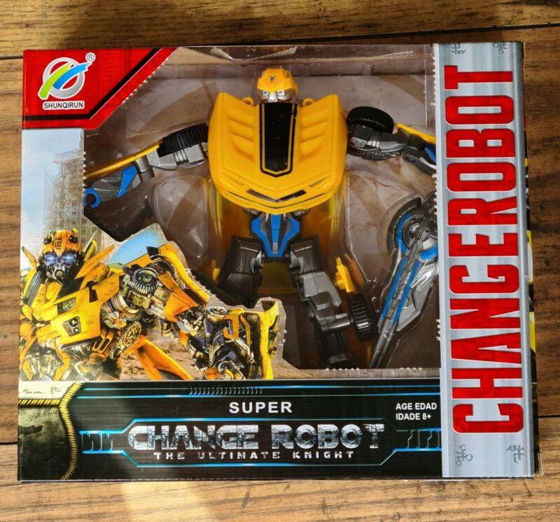 Kids+Transforming+Bumblebee+Robot+Super+Change+Chevrolet+Car+Transformer+Toy