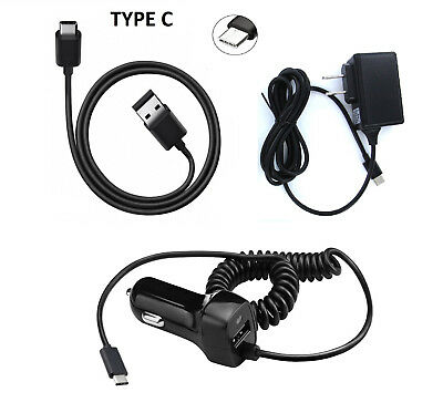Bundle Type C USB + Wall + Car Charger for LG Q7+ Q7 Plus for sale  Alhambra
