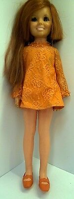 "Vintage 1969 Beautiful Ideal 18"" CRISSY DOLL Red Growing Hair"