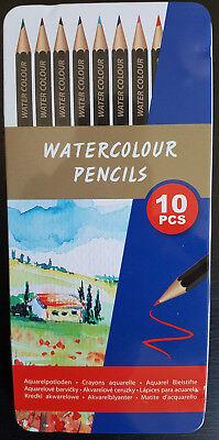 10 Aquarellstifte Wasserfarben Stifte malen zeichnen Künstler