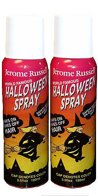 Temporary White Hair Color Spray (Jerome Russell Halloween Spray WHITE Temporary Hair Color TWO PACK  *Fast)